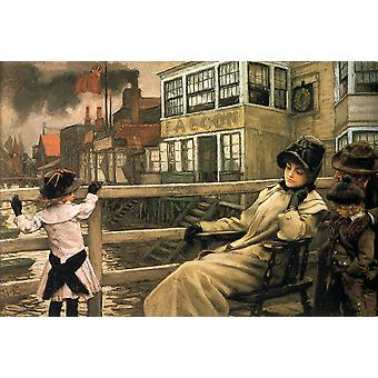James Tissot - Waiting for the Ferry Poster Print Giclee