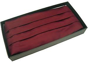 Michelsons of London Silk Cummerbund - Wine Red