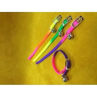 Cat Collar Nylon Stretch Rainbow