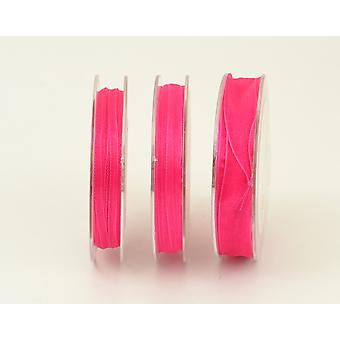 15mm Organza Craft Ribbon - 10m Reel - Cerise rosa