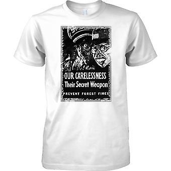 Our Carlessness - WW2 Propaganda Poster - Allied World War - Mens T Shirt