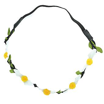 White Daisy Elastic Headband Flower Garland