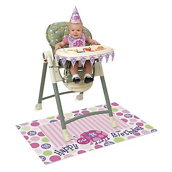 Unique Party 1st Birthday High Chair Kit With Ladybug Design
