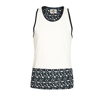Bellfield Overpool Cut & Sew Panel Vest | White