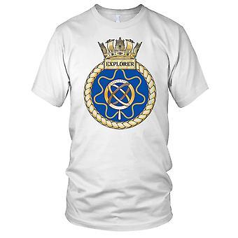Royal Navy HMS Explorer Ladies T Shirt