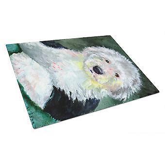 Carolines Schätze 7252LCB Old English Sheepdog Glas Schneidebrett groß