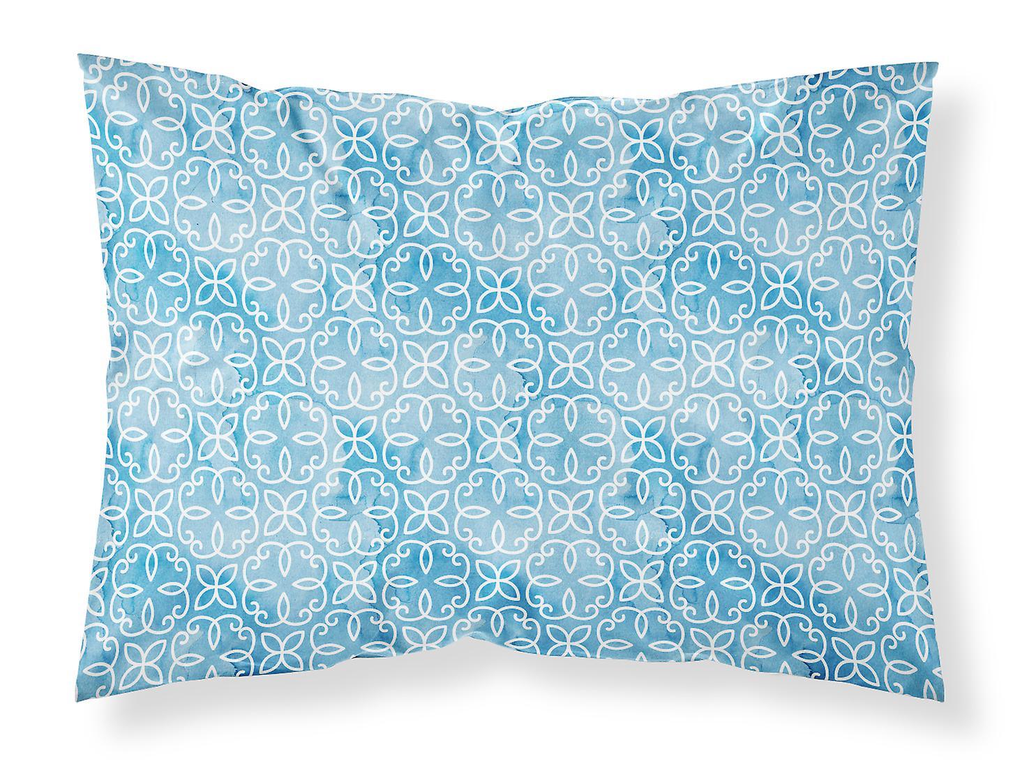 D'oreiller Standard Aquarelle Bleu Tissu Sur Taie Géométrique Cirlce sthQxCordB
