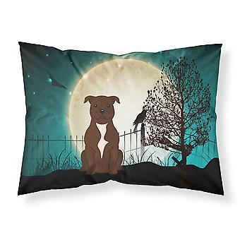 Halloween gruselig Staffordshire Bull Terrier Schokolade Stoff Standard Kissenbezug
