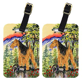Carolines Treasures  SS8228BT Pair of 2 Lakeland Terrier Luggage Tags