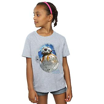 Star Wars Girls The Last Jedi BB-8 Brushed T-Shirt