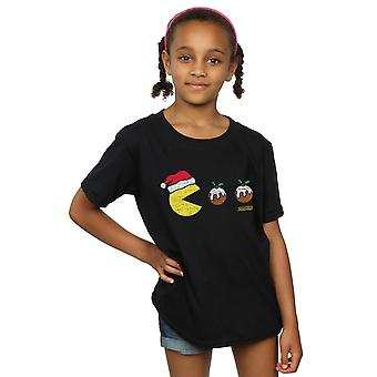 Pacman Mädchen Christmas Puddings T-Shirt