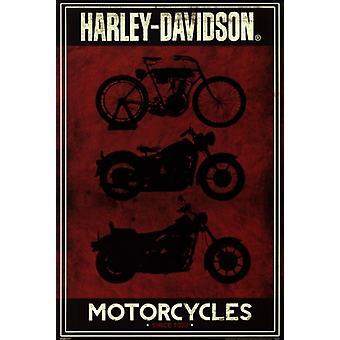 Harley Davidson - motorsykler plakat plakatutskrift