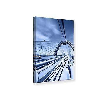 Canvas Print Modern Suspension Bridge