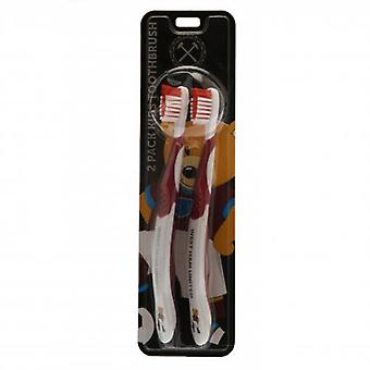 West Ham United Twin Pack Toothbrush Adults