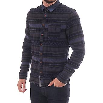 Pearly King Sullen Ls Aztec Print Shirt