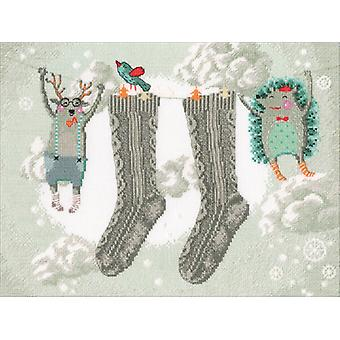 Winter Cares Counted Cross Stitch Kit-12.75