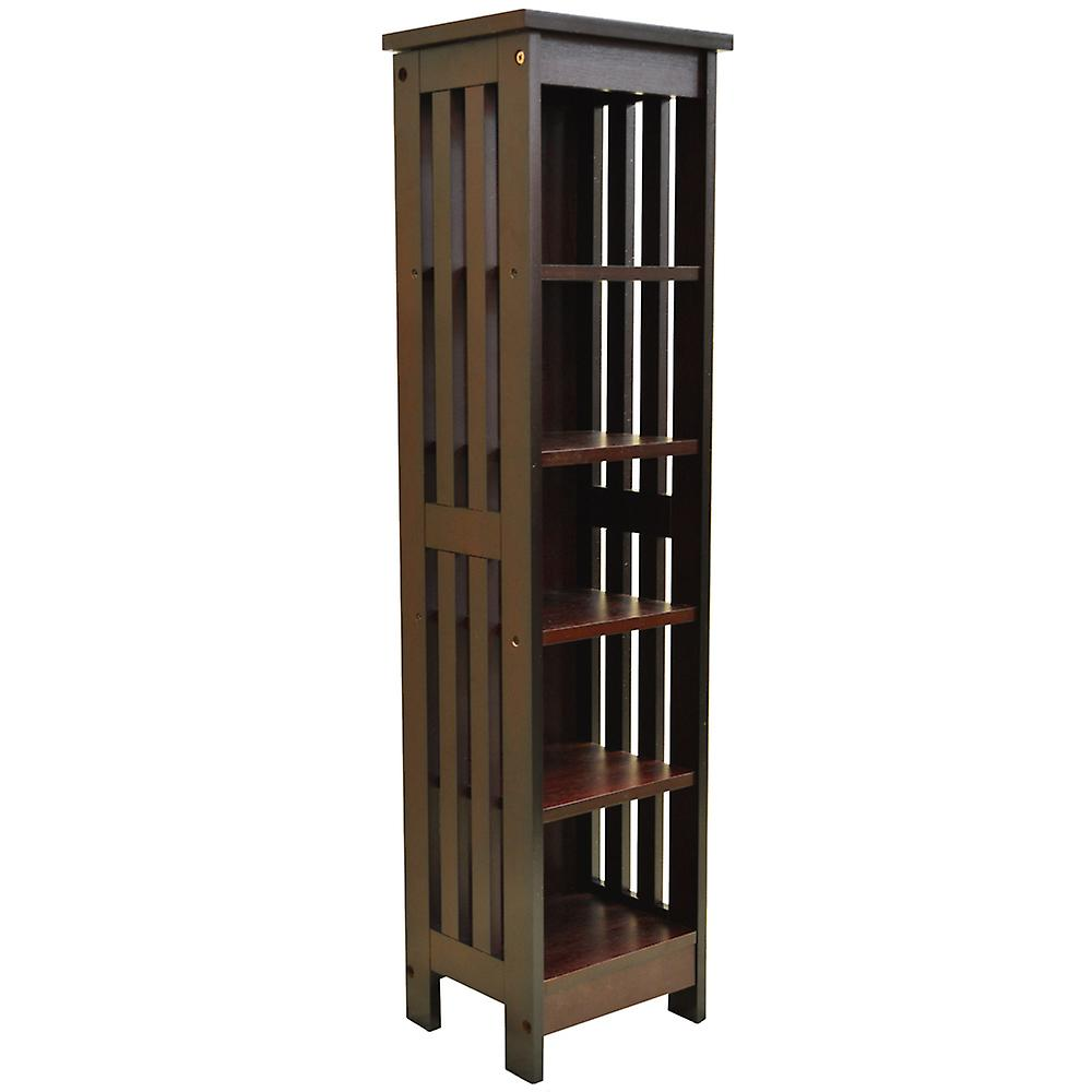 Mission - Solid Wood 90 Cd / Media Storage Shelves - Dark