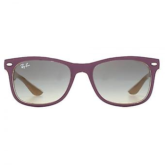 Ray-Ban Junior Wayfarer Sunglasses In Matte Violet On Orange