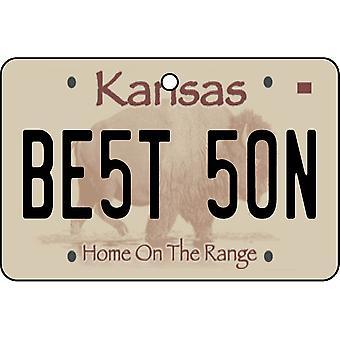 Kansas - Best Son License Plate Car Air Freshener