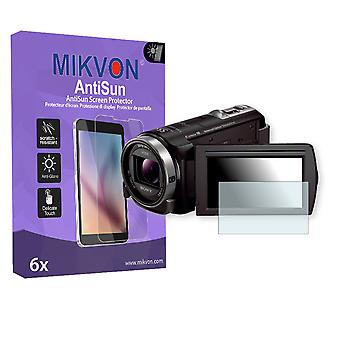 Sony HDR-CX320E Screen Protector - Mikvon AntiSun (Retail Package with accessories)