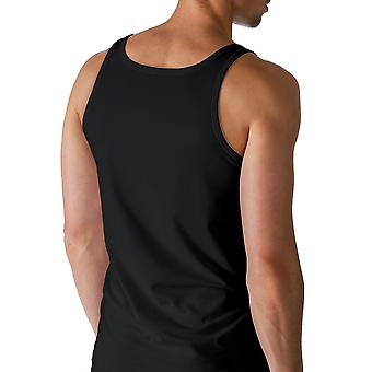 Mey 46100-123 Men's Dry Cotton Black Solid Colour Tank Vest Top