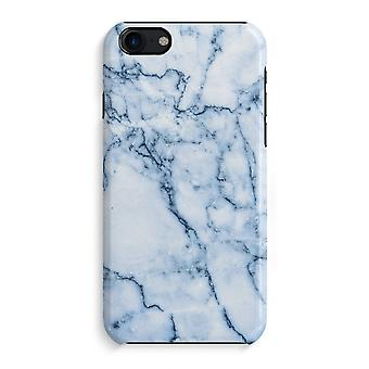 iPhone 7 Full Print Case (Glossy) - Blue marble