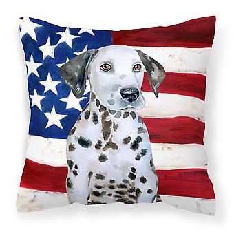 Dalmatian Puppy Patriotic Fabric Decorative Pillow