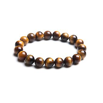 Woman or man in Tiger eye beads stretch bracelet