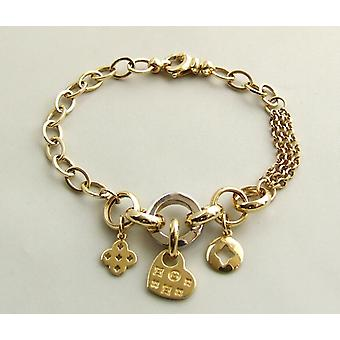 14 karaat gouden bedeltjes armband