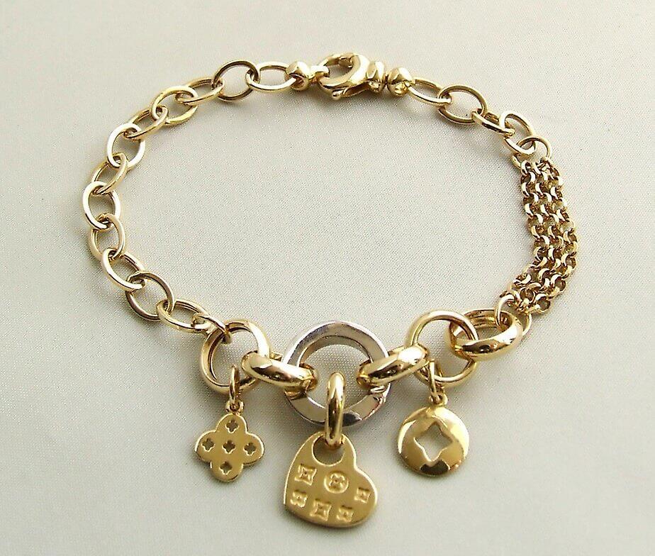 Bracelet de breloques or 14 k