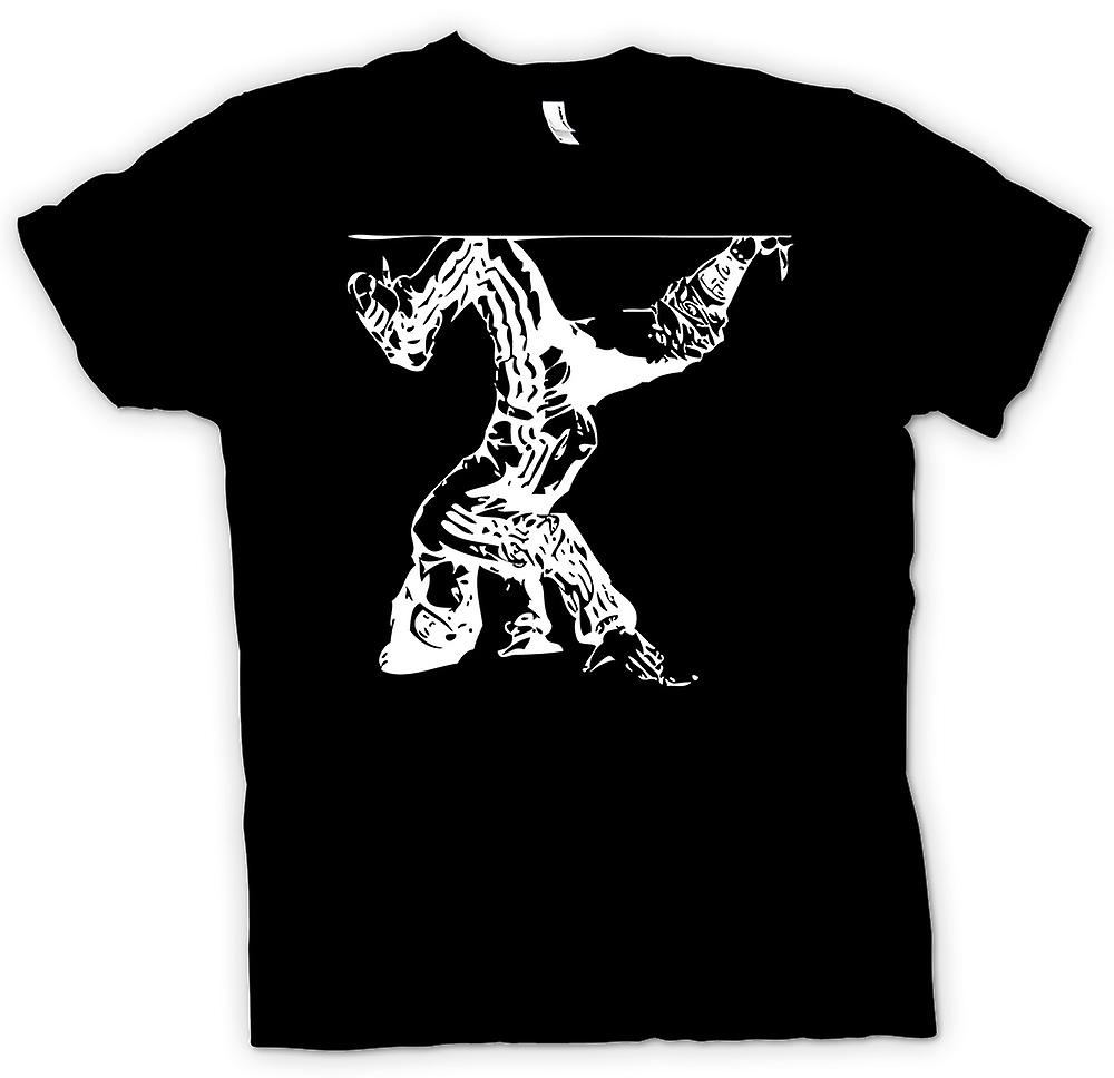 Mens t-skjorte - Breakdancing Hip Hop - BW