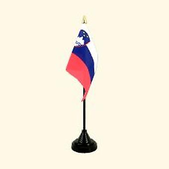 Slovenia Table Flag with Base and Stick