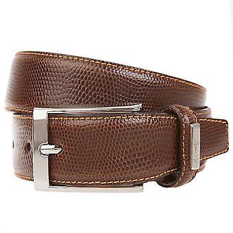 OTTO KERN belts men's belts leather belt Brown 1155
