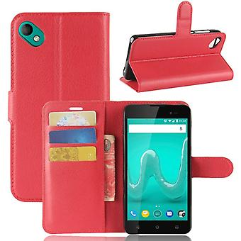 Pocket wallet premium red-to WIKO sunny 2 plus protection sleeve case cover pouch new