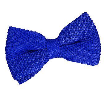 Royal blau stricken gestrickt Pre gebundene Fliege