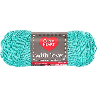 Red Heart With Love Yarn-Wintergreen