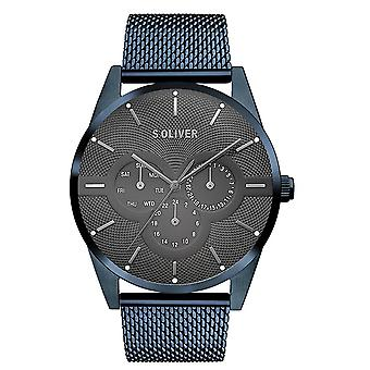 s.Oliver men's watch wristwatch stainless steel SO-3573-MM