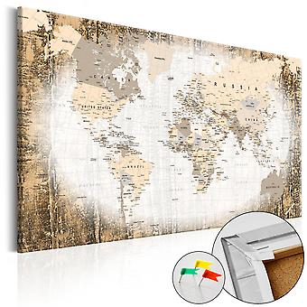 Decorativa Pinboard-enclave do mundo [Cork mapa]