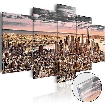 Akryl Print - New York City: Morgenhimlen [glas]