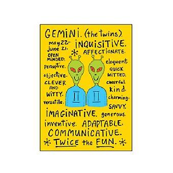 Géminis zodiaco signo (rasgos positivos) divertido Iman