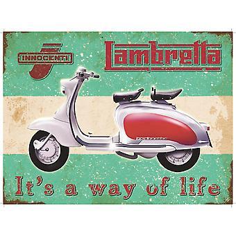 Lambretta Way Of Life Large Metal Sign 400Mm X 300Mm