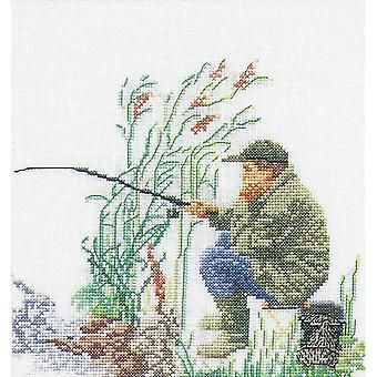 Fishing On Aida Counted Cross Stitch Kit-6.25
