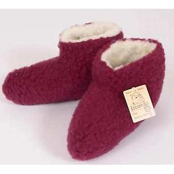 Bed shoes wool bordeaux 38/39
