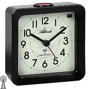 Atlanta 1854/4 alarm clock radio radio clock anthracite square with light Snooze
