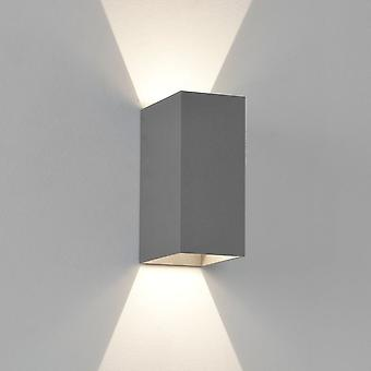 Astro Oslo Modern LED Painted Silver Wall Light Box