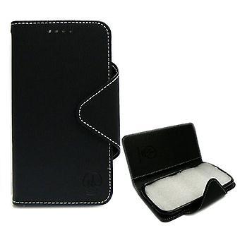 Power Mobile Folio Diary Case for ZTE N9510 / Warf 4G (Black)