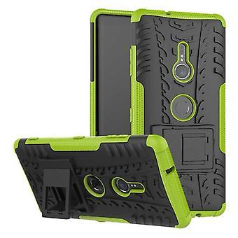 Hybrid tilfelle 2 stykke Koczian robot grønne for Sony Xperia XZ3 bag coveret beskyttelse