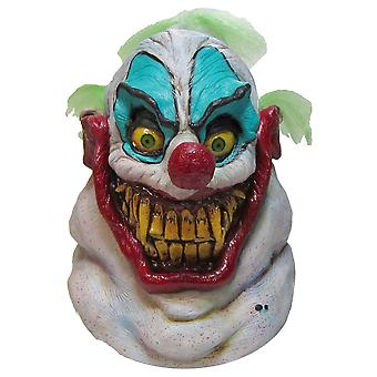 Sloppy The Clown Horror Evil Grin Joker Creepy Mens Costume Overhead Latex Mask