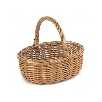 Mini Double Steamed Wicker Shopping Basket