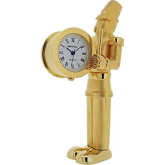 Gift Time Products Toy Soldier Miniature Clock - Gold
